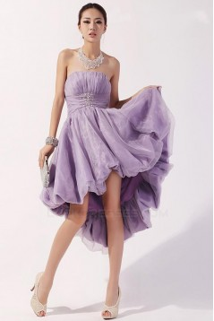 High Low Strapless Short Prom Evening Formal Party Dresses ED010532