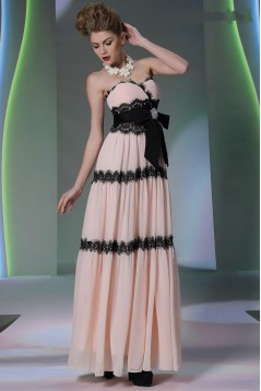 A-Line Sweetheart Long Chiffon and Lace Prom Evening Formal Party Dresses ED010541