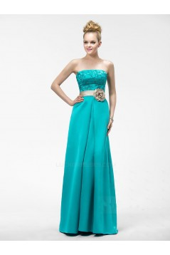 A-Line Strapless Long Prom Evening Formal Party Dresses ED010546