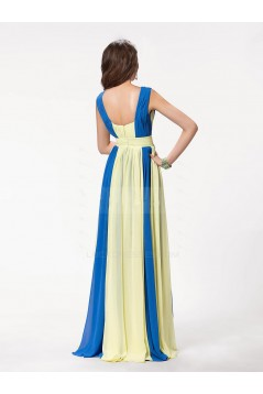 A-Line V-Neck Beaded Long Chiffon Prom Evening Formal Party Dresses ED010558