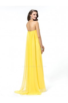 Sweetheart Beaded Split-Front Long Chiffon Prom Evening Formal Party Dresses ED010570