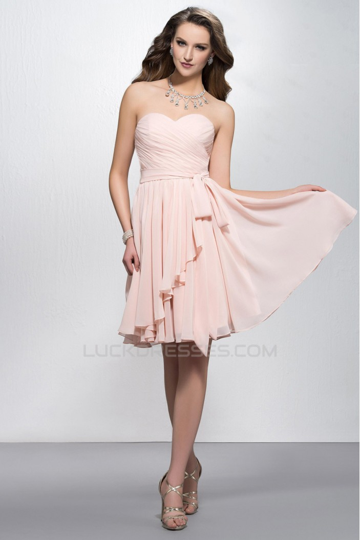 A-Line Sweetheart Short Chiffon Bridesmaid Dresses/Evening Dresses ED010601
