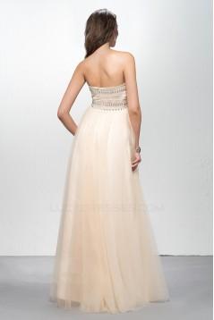 Empire Sweetheart Beaded Long Chiffon Prom Formal Dresses Maternity Evening Dresses ED010604