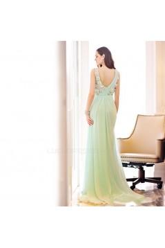 Sheath/Column V-Neck Long Chiffon Prom Evening Formal Party Dresses ED010611
