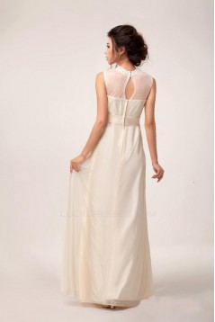 A-Line Beaded Jewel Long Chiffon Prom Evening Formal Party Dresses ED010614
