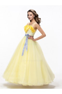 Long Yellow Prom Evening Formal Party Dresses ED010616