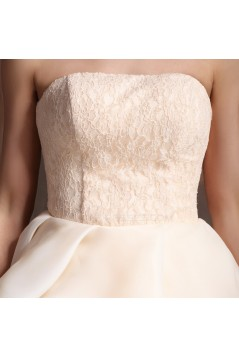 Short Strapless Lace Prom Evening Cocktail Homecoming Dresses ED010617