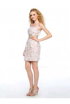 Short/Mini Strapless Beaded Prom Evening Cocktail Homecoming Party Dresses ED010630
