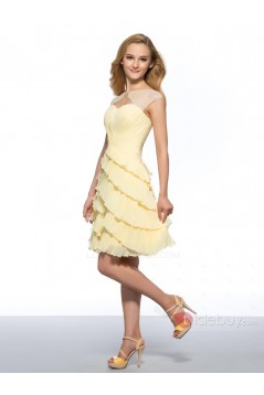 A-Line Short Bateau Beaded Prom Evening Cocktail Homecoming Party Dresses ED010636