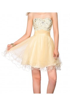 A-Line Sweetheart Short Beaded Prom Evening Cocktail Homecoming Party Dresses ED010638