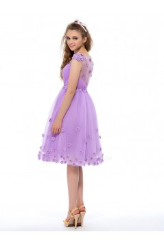 A-Line Knee-Length Short Prom Evening Formal Party Dresses ED010646