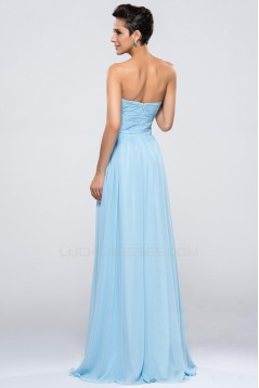 A-Line Sweetheart Beaded Long Chiffon Prom Evening Formal Party Dresses ED010653