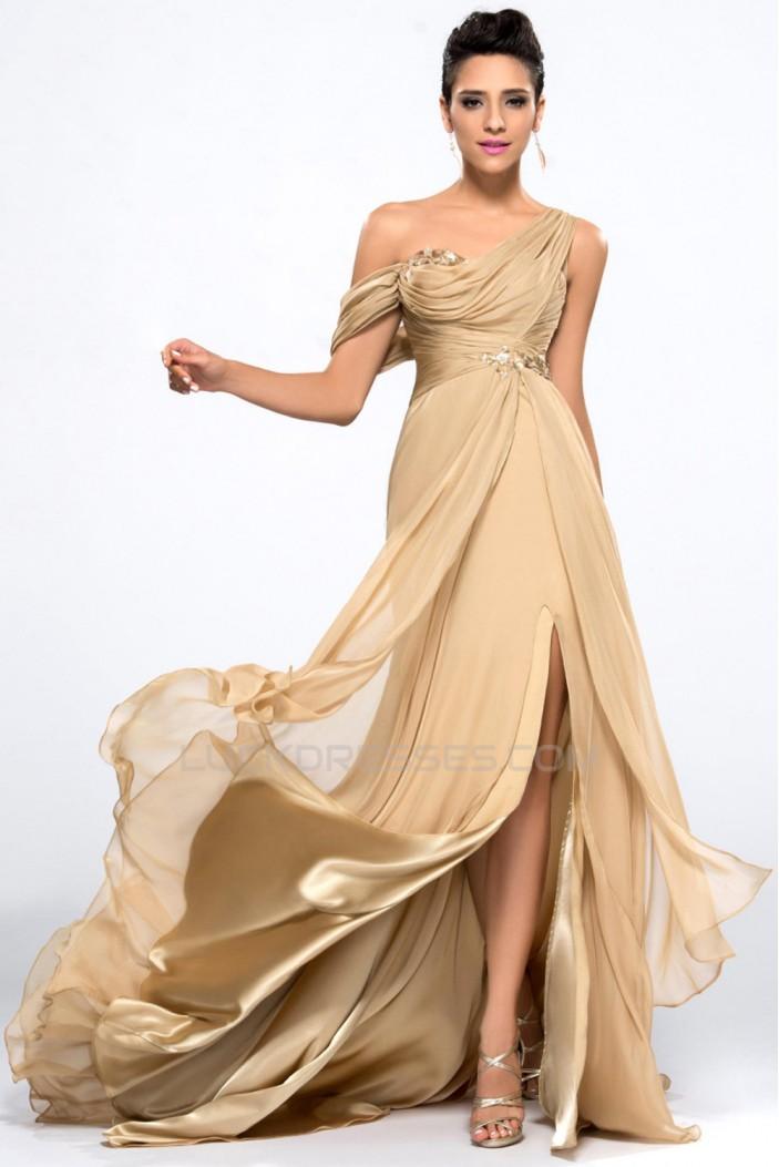 Mermaid Split-Front Long Chiffon Prom Evening Formal Party Dresses ED010654