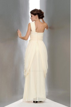 Column One-Shoulder Beaded Long Chiffon Prom Evening Formal Party Dresses ED010655