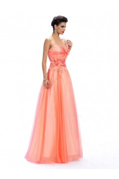 A-Line Sweetheart Beaded Long Prom Evening Formal Party Dresses ED010660