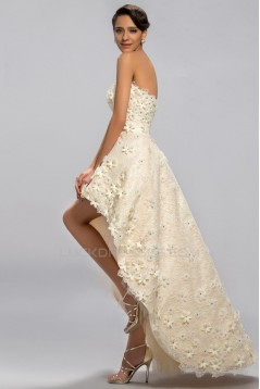 High Low Strapless Beaded Prom Evening Formal Party Dresses ED010679