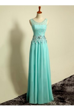 A-Line Beaded Lace and Chiffon Long Prom Evening Formal Party Dresses ED010696