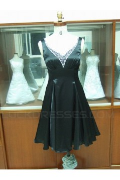 A-Line Sequin Short Black Prom Evening Formal Party Dresses ED010724