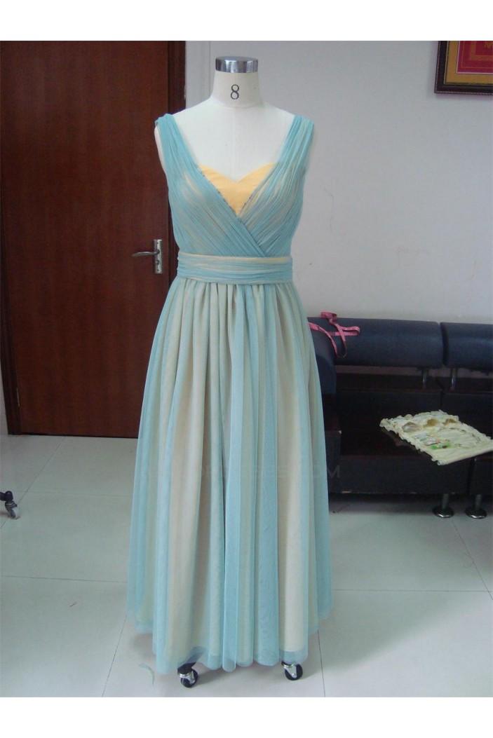 Sheath/Column Long Chiffon Prom Evening Formal Party Dresses ED010731