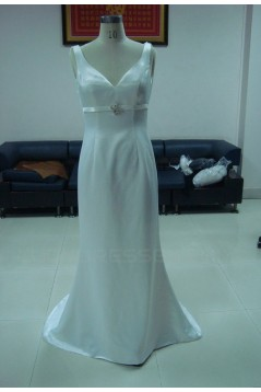 Trumpet/Mermaid Long White Prom Evening Formal Party Dresses ED010735