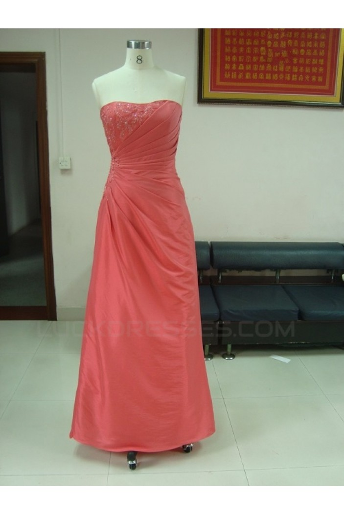 A-Line Strapless Long Prom Evening Formal Party Dresses ED010738