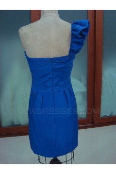 Short/Mini One-Shoulder Blue Prom Evening Formal Party Dresses ED010741