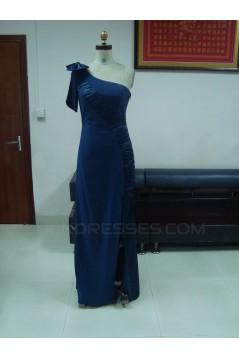 Sheath/Column One-Shoulder Split-Front Long Chiffon Prom Evening Formal Party Dresses ED010743