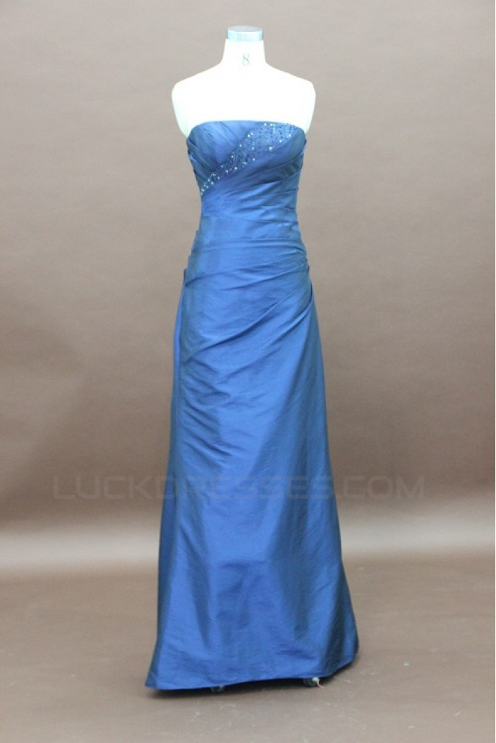 A-Line Strapless Long Beaded Prom Evening Formal Party Dresses ED010746