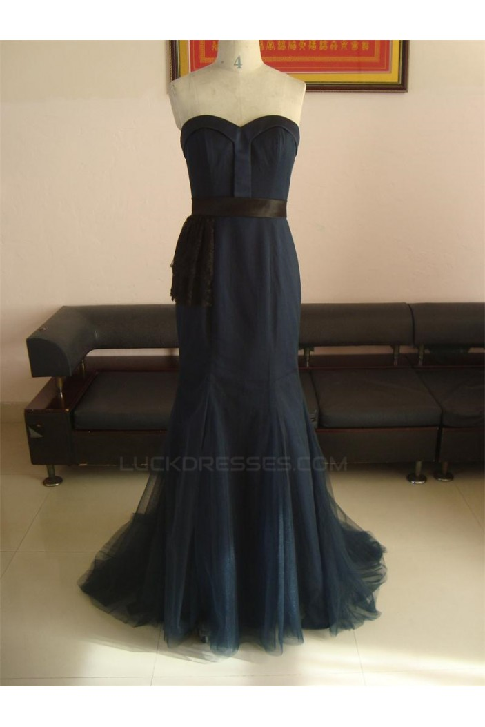 Trumpet/Mermaid Sweetheart Long Prom Evening Formal Party Dresses ED010748