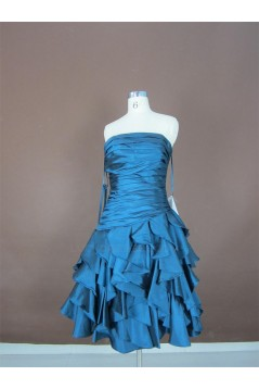 A-Line Strapless Short Prom Evening Formal Party Dresses ED010755