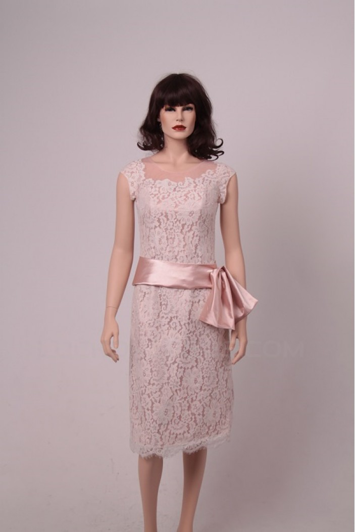 Sheath Short Lace Prom Evening Formal Party Dresses ED010756