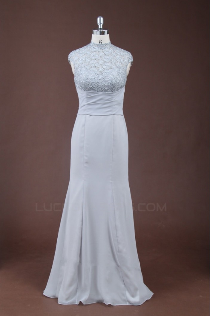 Elegant High Neck Long Prom Evening Formal Party Dresses ED010769