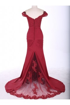 Mermaid Off-the-Shoulder Long Prom Evening Formal Party Dresses ED010771