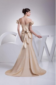 Trumpet/Mermaid Off-the-Shoulder Long Prom Evening Dresses ED010774