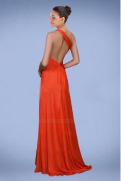 A-Line One-Shoulder Chiffon Prom Evening Dresses ED010782