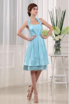 A-Line Halter Knee-Length Prom Evening Bridesmaid Dresses ED010796