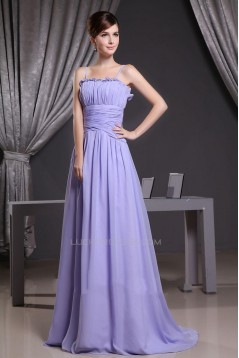 A-Line Spaghetti Strap Long Chiffon Prom Evening Dresses ED010809