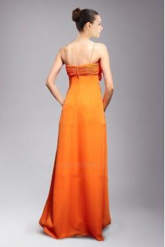 Empire Spaghetti Strap Long Chiffon Prom Evening Dresses Maternity Evening Dresses ED010811