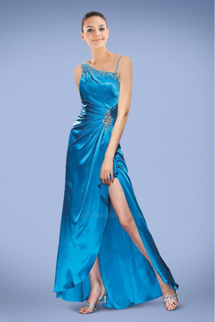 Beaded Long Blue Prom Evening Dresses ED010841