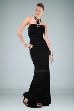 Long Black Beaded Prom Evening Dresses ED010844