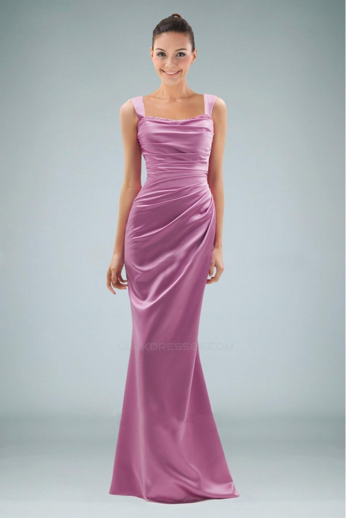 Trumpet/Mermaid Straps Beaded Long Prom Evening Formal Dresses ED010857