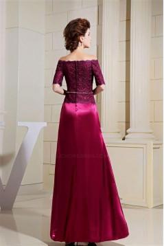 Off-the-Shoulder Short Sleeve Long Prom Evening Formal Dresses ED010875
