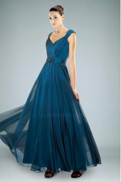A-Line Straps Long Chiffon Prom Evening Formal Dresses ED010877