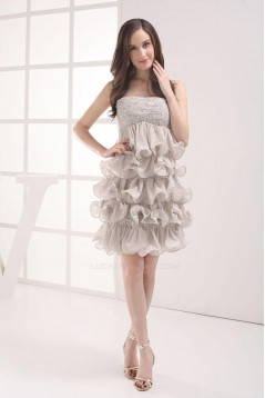 Short/Mini Strapless Cocktail Prom Evening Formal Dresses ED010878