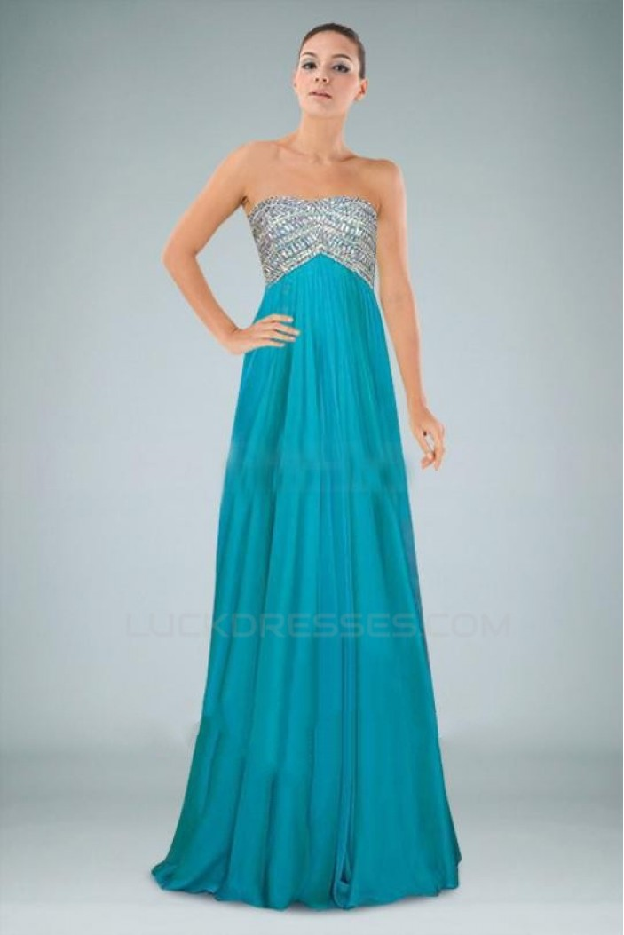 Empire Beaded Long Chiffon Prom Evening Formal Dresses Maternity Evening Dresses ED010881