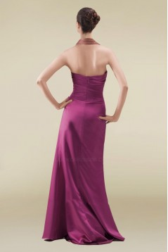Sheath Halter Long Prom Evening Formal Dresses ED010886