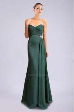 A-Line Sweetheart Long Chiffon Prom Evening Formal Dresses ED010889