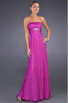 Empire Strapless Beaded Long Chiffon Prom Evening Formal Dresses ED010890