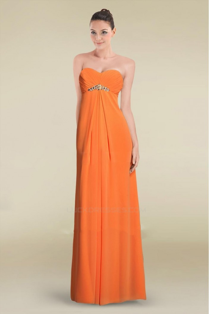 Empire Sweetheart Long Chiffon Prom Evening Formal Dresses Maternity Evening Dresses ED010898