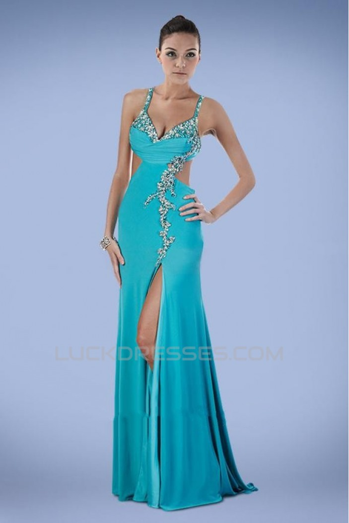Sexy Beaded Long Chiffon Prom Evening Formal Dresses ED010900